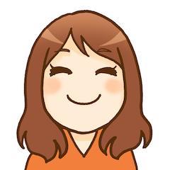 かなさんの似顔絵イラストです。ロングヘアの笑顔です。